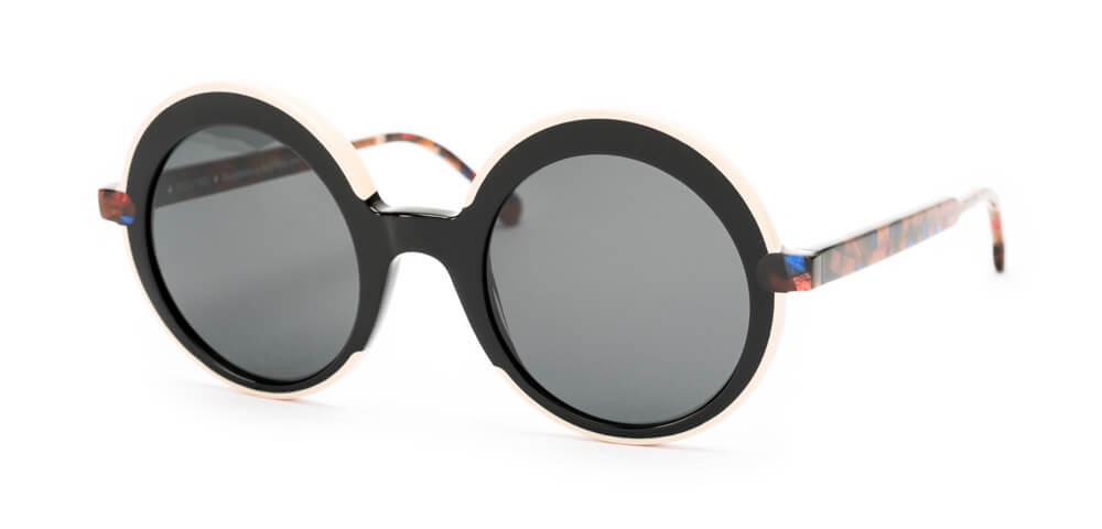 LIGHT PINK / BLACK / BROWN HAVANA - Plain Grey Lens