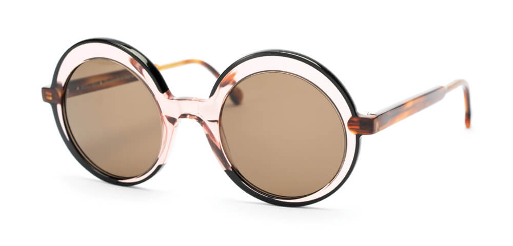 BLACK / PINK / TORTOISE - Plain Brown Lens