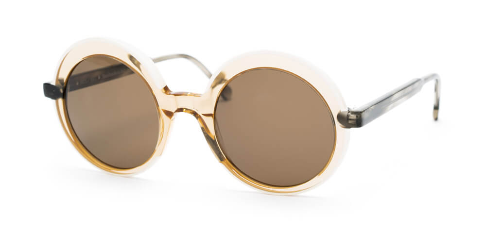 CREAM / HONEY / GREY HAVANA - Plain Brown Lens