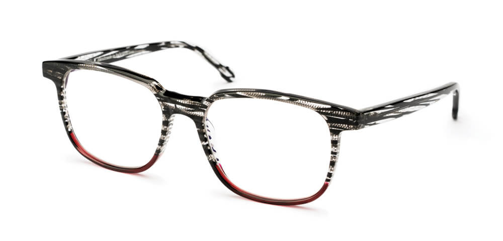 BLACK STRIPED HAVANA / RED