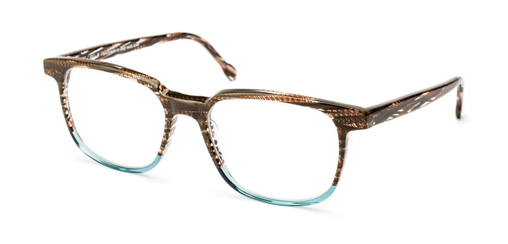 BROWN STRIPED HAVANA / LIGHT BLUE
