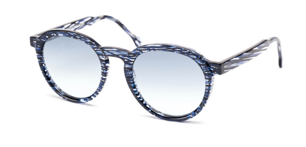 BLUE STRIPED HAVANA - Grey Blue Lens