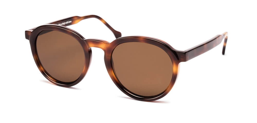BLUE FLAMED HAVANA / BROWN - Plain Dark Brown Lens