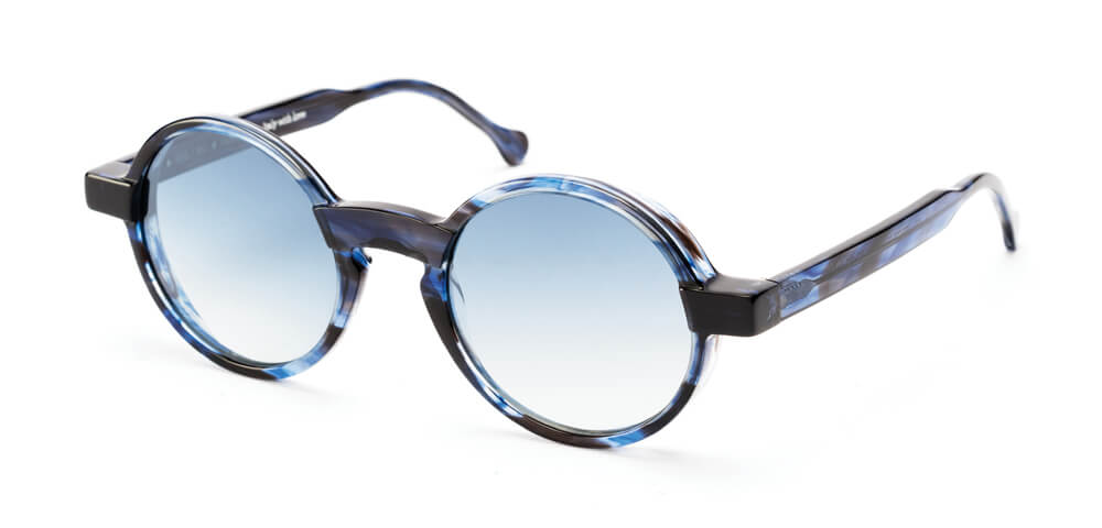 BLUE FLAMED HAVANA - Grey Blue Lens