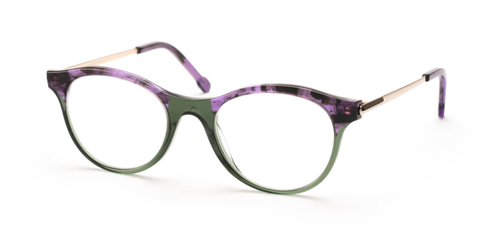 PURPLE FLAMED HAVANA / GREEN / ROSÉ GOLD