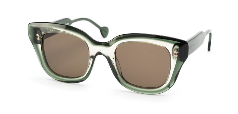GREY / GREEN  - Plain Brown Lens