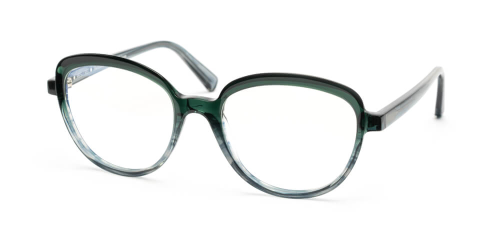 GRADIENT GREEN / BLUE FLAMED HAVANA