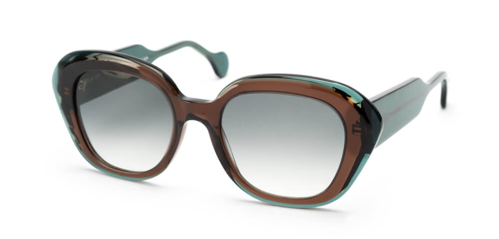 BROWN / DARK HAVANA / GREEN - GRADIENT GREY LENS