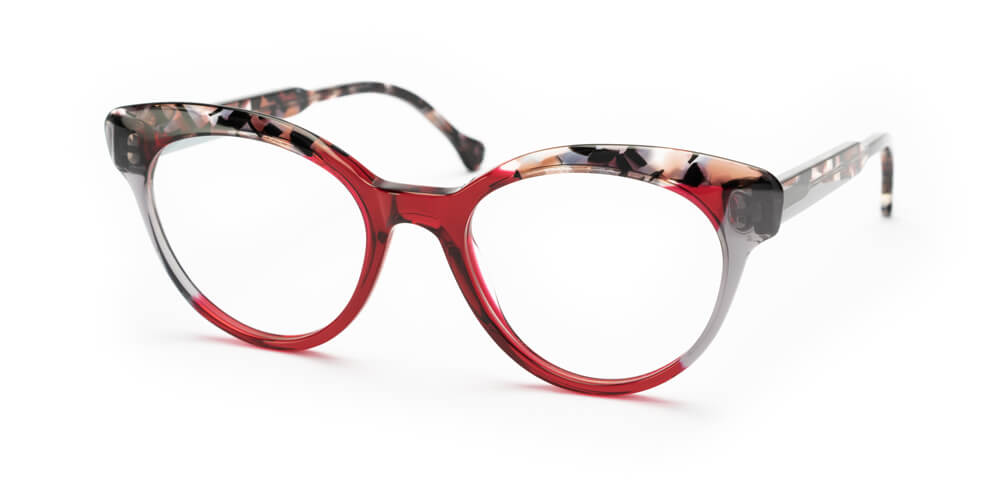 RED / PINK TORTOISE / GREY