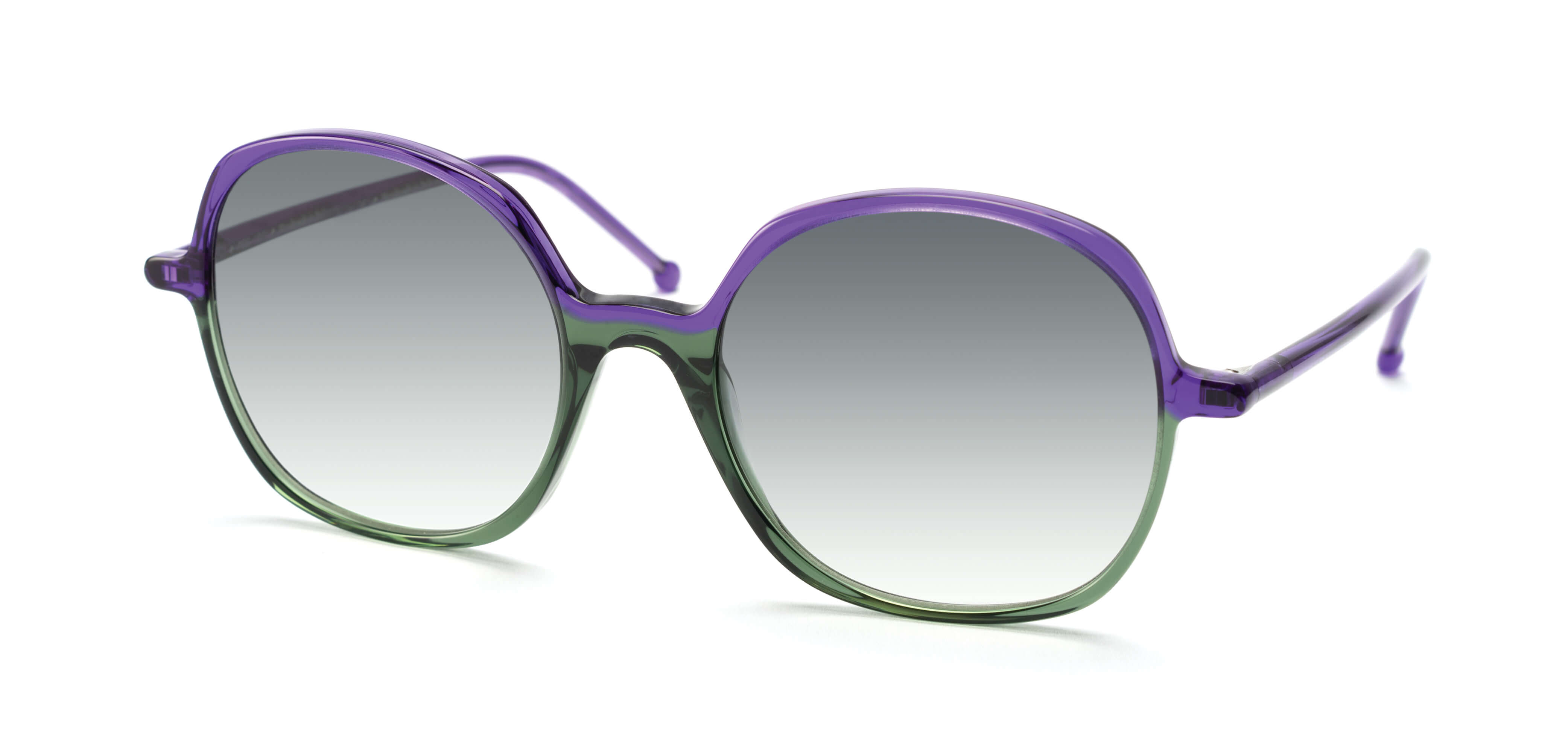 PURPLE / GREEN - GRADIENT GREY LENS